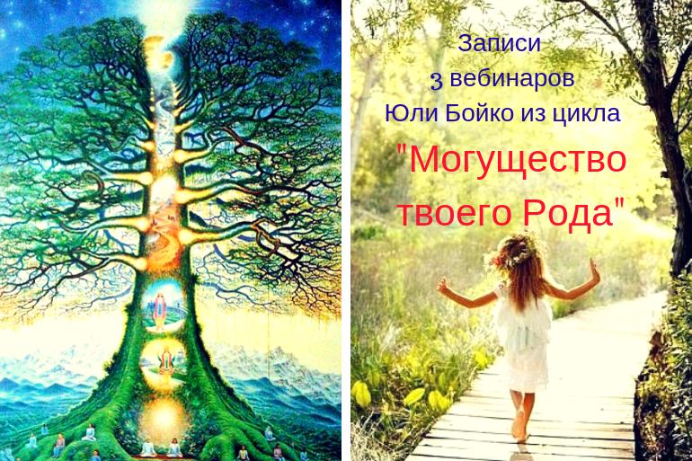 """Юлия Бойко. Запись 3 вебинаров из цикла """"Могущество твоего Рода"""""""